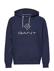 D1. GANT LOCK - UP HOODIE - EVENING BLUE