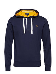 O1.  RUGGER HOODIE - EVENING BLUE