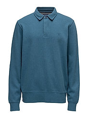 SACKER RIB 2 BUTTON COLLAR - INK BLUE MEL