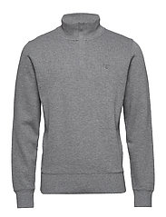 SACKER RIB HALF ZIP - DARK GREY MELANGE