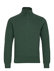 D2. SACKER RIB HALF ZIP - TARTAN GREEN MEL