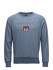 GANT SHIELD C-NECK SWEAT - DENIM BLUE MEL