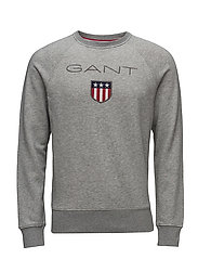 GANT SHIELD C-NECK SWEAT - GREY MELANGE