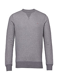 THE ORIGINAL C-NECK SWEAT - DARK GREY MELANGE