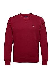 THE ORIGINAL C-NECK SWEAT - MAHOGNY RED