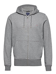 THE ORIGINAL FULL ZIP HOODIE - DARK GREY MELANGE