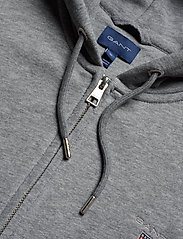 GANT - THE ORIGINAL FULL ZIP HOODIE - hoodies - dark grey melange - 2