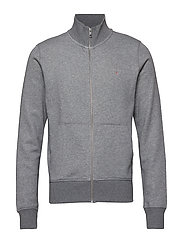 THE ORIGINAL FULL ZIP CARDIGAN - DARK GREY MELANGE