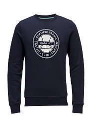 OP1. BÅSTAD C-NECK SWEAT - EVENING BLUE