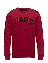 O3. GIFT GIVING C-NECK SWEAT - RED