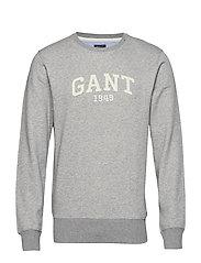 O2. GANT C-NECK SWEAT - GREY MELANGE