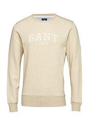 O2. GANT C-NECK SWEAT - LT SAND MEL