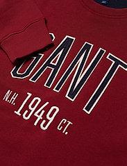 Gant - D1. GRAPHIC C-NECK SWEAT - svetarit - mahogny red - 2