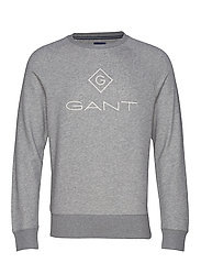 LOCK UP C - NECK SWEAT - GREY MELANGE