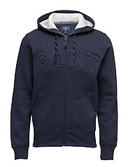 GANT EMBOSSED FULL ZIP SWEAT HOODIE