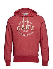 O2. GANT SWEAT HOODIE - CORAL RED MEL
