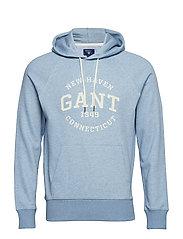 O2. GANT SWEAT HOODIE - LT BLUE MELANGE