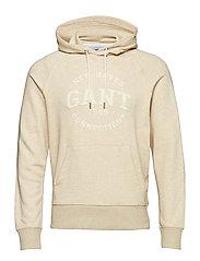O2. GANT SWEAT HOODIE - LT SAND MEL
