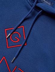 GANT - D1. COLOR LOCK UP HOODIE - hoodies - crisp blue - 2
