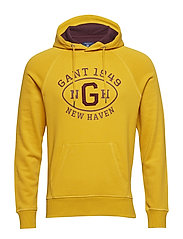 O1. GRAPHIC SWEAT HOODIE - IVY GOLD