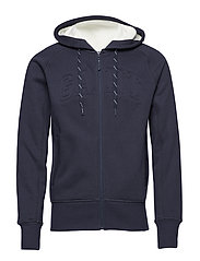O1. MOBILIZE FULL ZIP HOODIE - EVENING BLUE