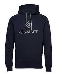 GANT LOCK UP HOODIE - EVENING BLUE