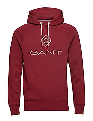 GANT LOCK UP HOODIE - MAHOGNY RED