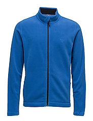 FULL ZIP FLEECE CARDIGAN - LAPIS BLUE
