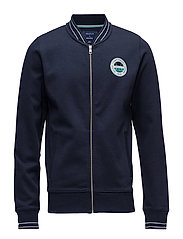 OP1. BÅSTAD SWEAT BOMBER JACKET - EVENING BLUE