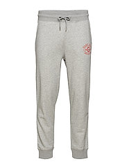 O1. GRAPHIC SWEAT PANTS - GREY MELANGE