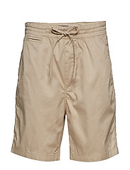 O2. RELAXED EMBROIDERED SHORT - DRY SAND