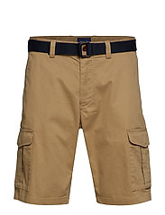O1. TP RLXD BELTED UTILITY SHORT - WOOD BROWN