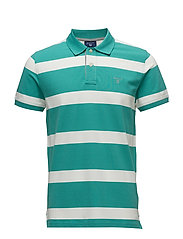 OP1. CONTRAST COLLAR STRIPE RUGGER - PORCELAIN GREEN
