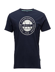 OP1. BÅSTAD SS T-SHIRT - EVENING BLUE