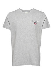 D1. MEDIUM SHIELD SS T-SHIRT - LIGHT GREY MELANGE