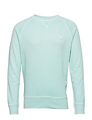 O2. SUNBLEACHED C-NECK SWEAT - BAY GREEN