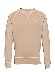 O2. SUNBLEACHED C-NECK SWEAT - DRY SAND