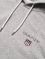 GANT - D1. MEDIUM SHIELD HOODIE - basic sweatshirts - light grey melange - 2