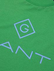 GANT - D1. COLOR LOCK UP SS T-SHIRT - short-sleeved t-shirts - amazon green - 2