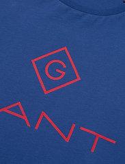 GANT - D1. COLOR LOCK UP SS T-SHIRT - short-sleeved t-shirts - crisp blue - 2
