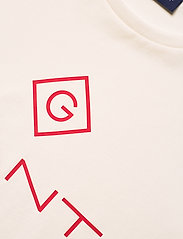 GANT - D1. COLOR LOCK UP SS T-SHIRT - short-sleeved t-shirts - eggshell - 2