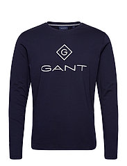 GANT LOCK UP LS T-SHIRT - EVENING BLUE