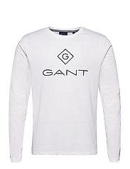 GANT LOCK UP LS T-SHIRT - WHITE