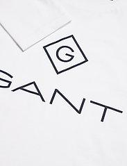GANT - GANT LOCK UP LS T-SHIRT - long-sleeved t-shirts - white - 2
