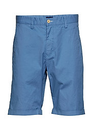 O2. REGULAR SUNBLEACHED SHORTS - MID BLUE
