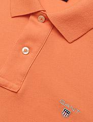 Gant - ORIGINAL PIQUE SS RUGGER - short-sleeved polos - carrot orange - 2