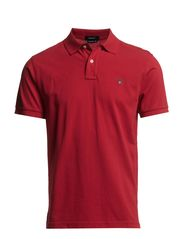 SOLID PIQUE SS RUGGER - RED