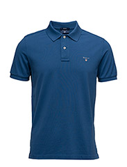 SOLID PIQUE SS RUGGER - YALE BLUE