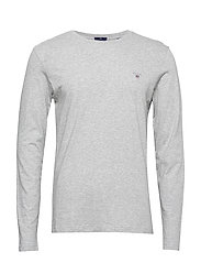 THE ORIGINAL SLIM LS T-SHIRT - LIGHT GREY MELANGE