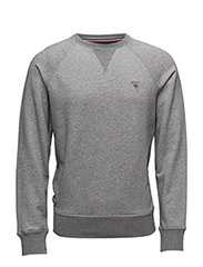 GANT ORIGINAL C-NECK SWEAT - GREY MELANGE